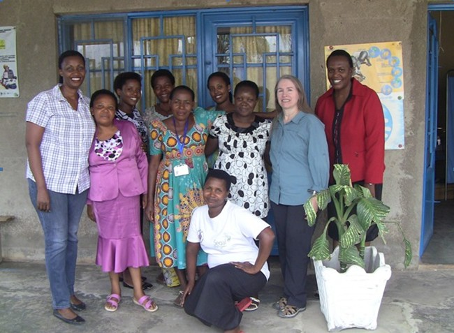 Anne Hutchinson, the new African Great Lakes Initiatives (AGLI) fundraiser, visited Friends Women's Association (FWA)